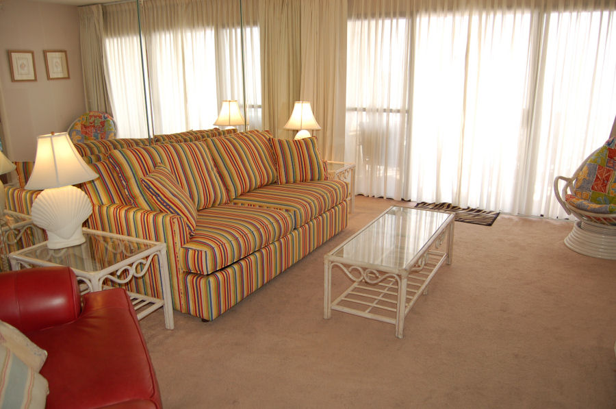 Living Room 507 Of Gulf Gate Condos In Panama City Beach Fl Unit 507 Gulf